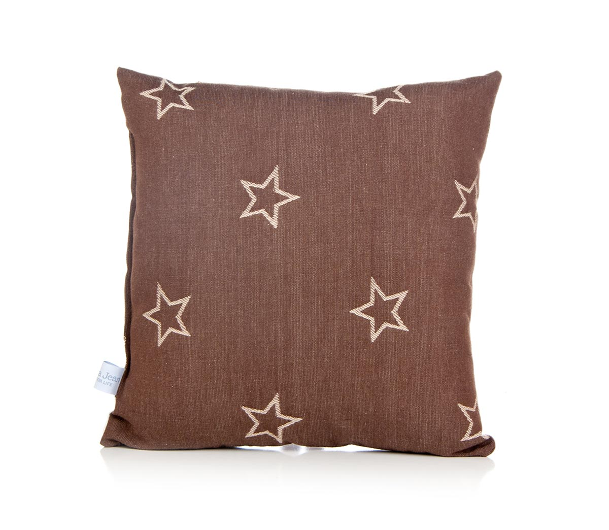 Glenna Jean Camp River Rock Pillow - Brown Stars