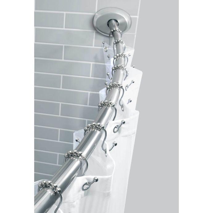 TITAN NeverRust 72-Inch Aluminum Decorative Finial Tension Shower Rod