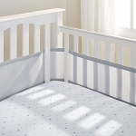 BREATHABLEBABY(R) MIX & MATCH BREATHABLE MESH CRIB LINER IN GREY MIST