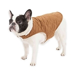 UGG(R) CLASSIC SUEDE REVERSIBLE DOG COAT IN CHESTNUT/SNOW