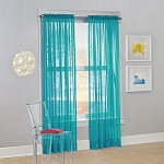 Calypso Sheer Voile Rod Pocket Curtain Panel Sky 59