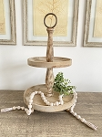 Rustic Two Tiered Wood Tray