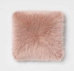 Faux Fur Square Throw Pillow Blush - Room Essentials