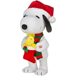 ANIMATED SIDE-STEPPER SNOOPY HOLDING WOODSTOCK