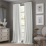 VALERON ESTATE COTTON LINEN 95-INCH WINDOW CURTAIN PANEL IN WHITE