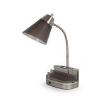 EQUIP YOUR SPACE TABLET ORGANIZER 1-LIGHT DESK LAMP IN CHARCOAL