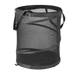 POP UP MESH LAUNDRY HAMPER IN BLACK