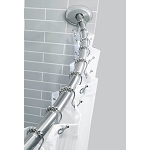 TITAN NEVERRUST(TM) ALUMINUM SINGLE CURVED SHOWER ROD