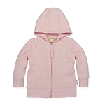 BURT'S BEES BABY(R) SIZE 3M ORGANIC COTTON QUILTED BEE JACKET IN PINK