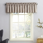 Seymour Energy Efficient Rod Pocket Curtain Valance Stone 54