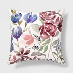 Floral Square Throw Pillow - Threshold
