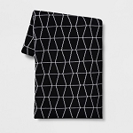 Reversible Knit Geo Throw Blanket Black/White - Project 62