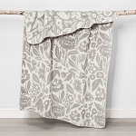 Floral Chenille Throw Blanket Gray - Opalhouse