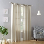 Layne Heathered Solid Sheer Curtain Panel Ecru 40