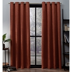 Oxford Textured Sateen Thermal Room Darkening Grommet Top Window Curtain Panel Pair