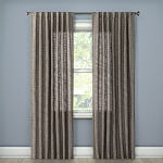 Textured Weave Back Tab Window Curtain Panel Gray (54