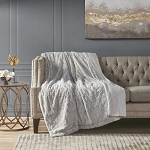 Sand Marselle Faux Fur Throw Blanket 60