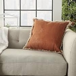 Throw Pillow Stonewash Clay - Mina Victory